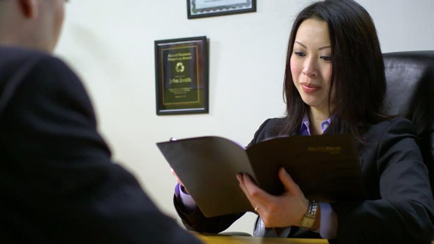 Business Executive Women Interviewing - HD stock video clip