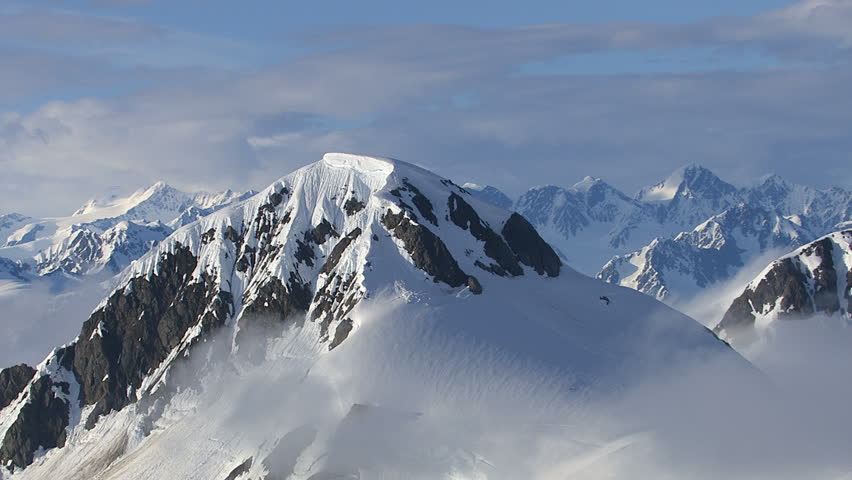 Alaska mountains and clouds, aerial shot | Shutterstock HD Video #4584401
