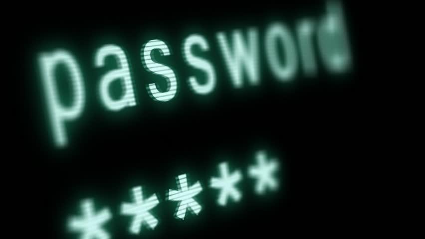 Entering computer password. Black screen, with blinking cursor.