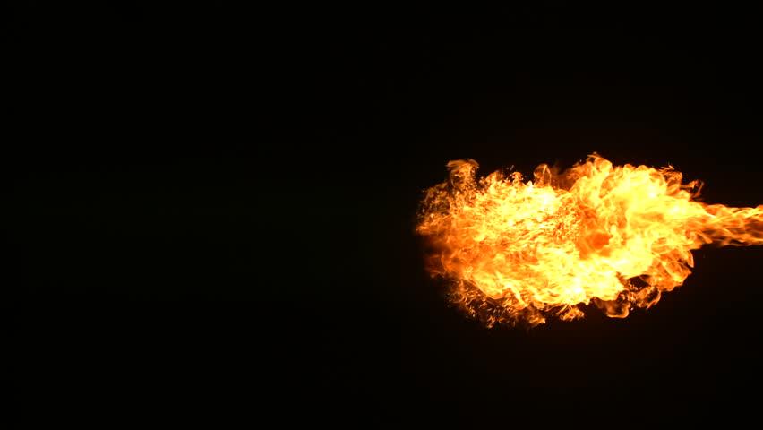 Fireball explosion, slow motion