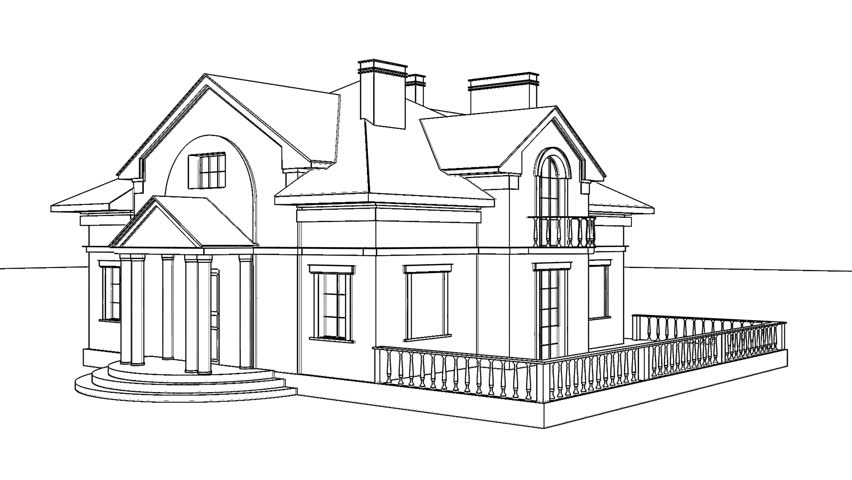 Home Construction High Quality Animation Of A House Being