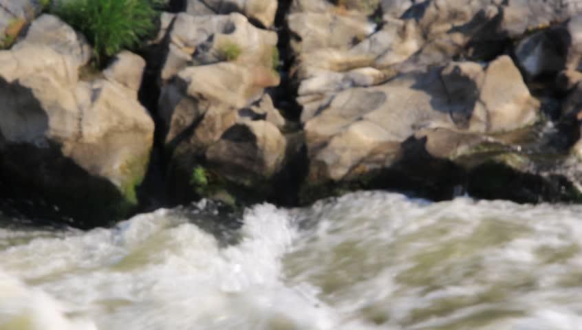 River splashes the stones - HD stock video clip