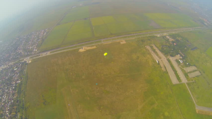 Video parachute jumps (skydiving) from a first-person   Shutterstock HD Video #4640543