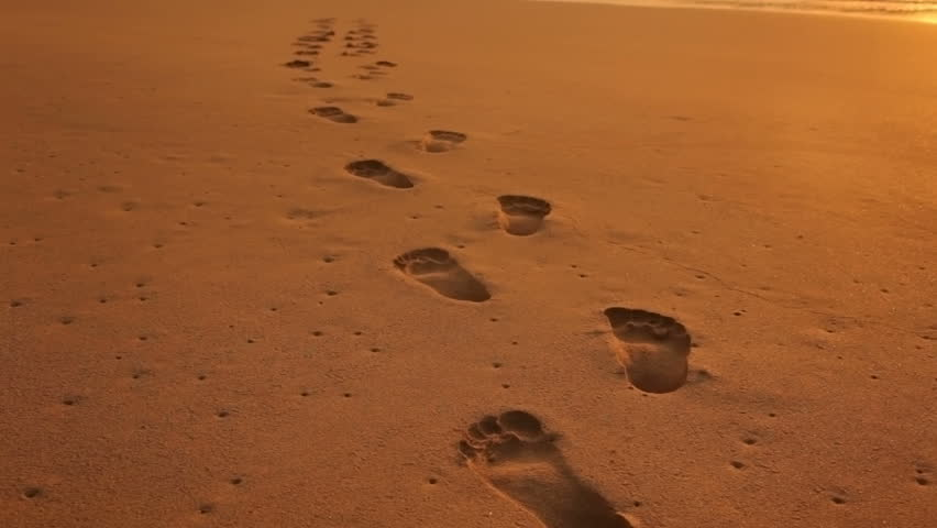 Footprints Stock Footage Video - Shutterstock