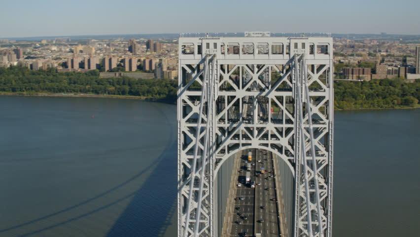 Aerial shot of George Washington Bridge, New York City #4657490