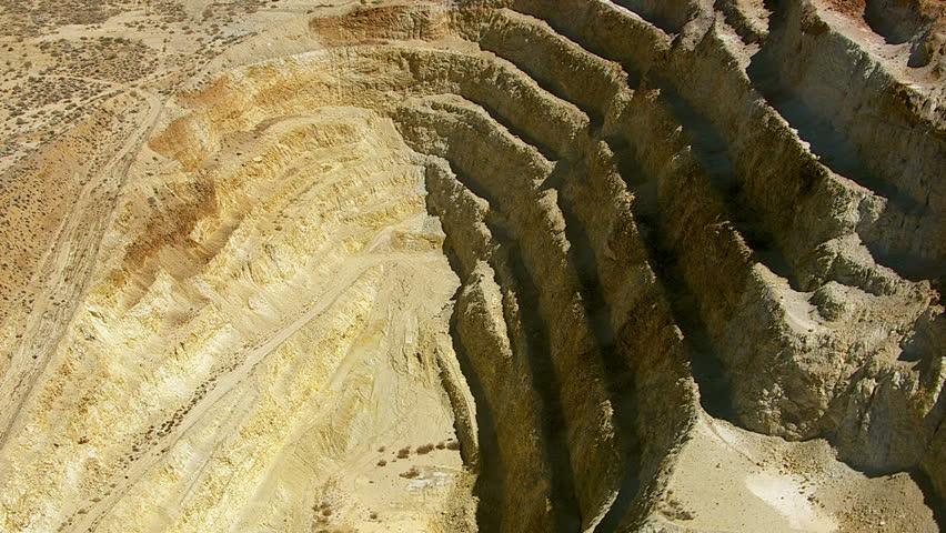 Aerial shot of mining operation