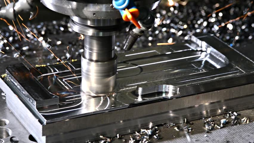 the milling machine  - HD stock footage clip