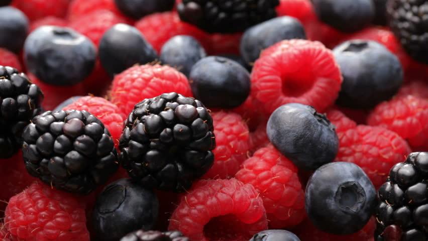 Fresh blueberries, blackberries and raspberries #4688180