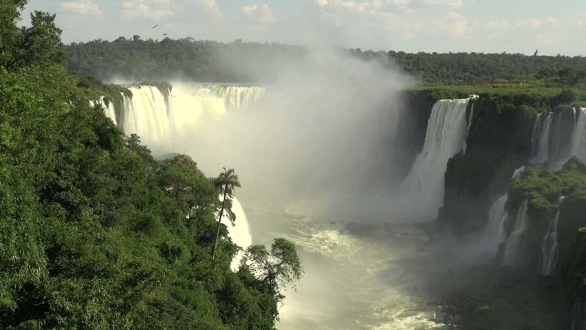 Iguazu Brazil with mist | Shutterstock HD Video #4706648