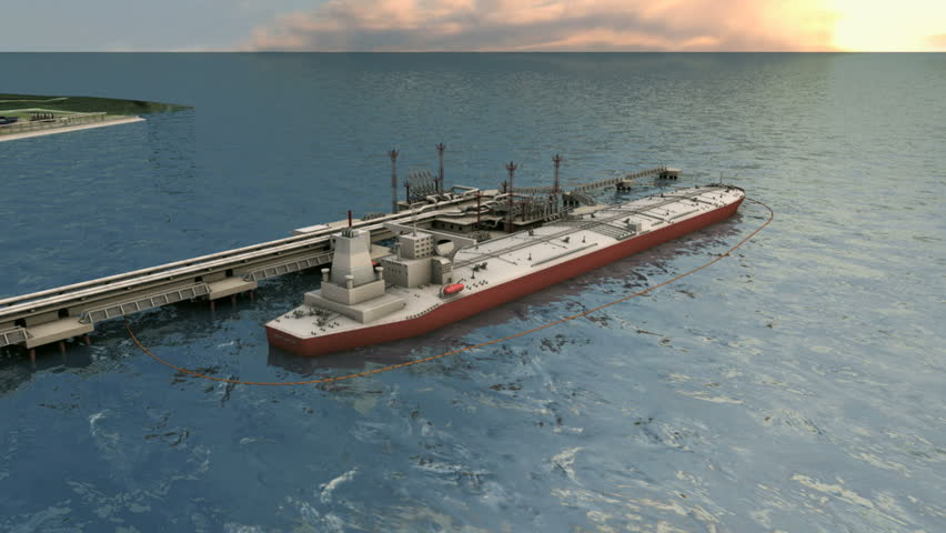 crude oil tanker  (tank vessel) - HD stock video clip