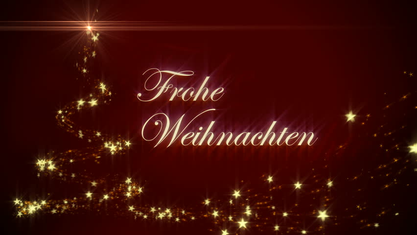 merry christmas in german frohe weihnachten stock footage. Black Bedroom Furniture Sets. Home Design Ideas