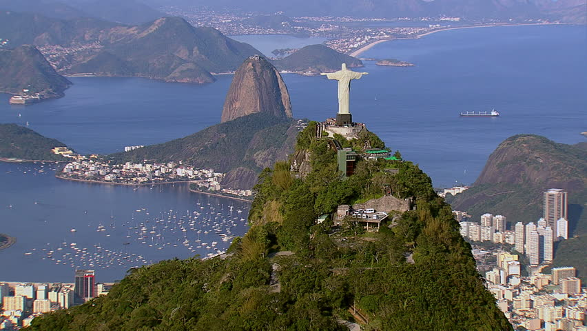 Aerial view of Christ the Redeemer and Sugarloaf, Rio de Janeiro, Brazil | Shutterstock HD Video #4760666