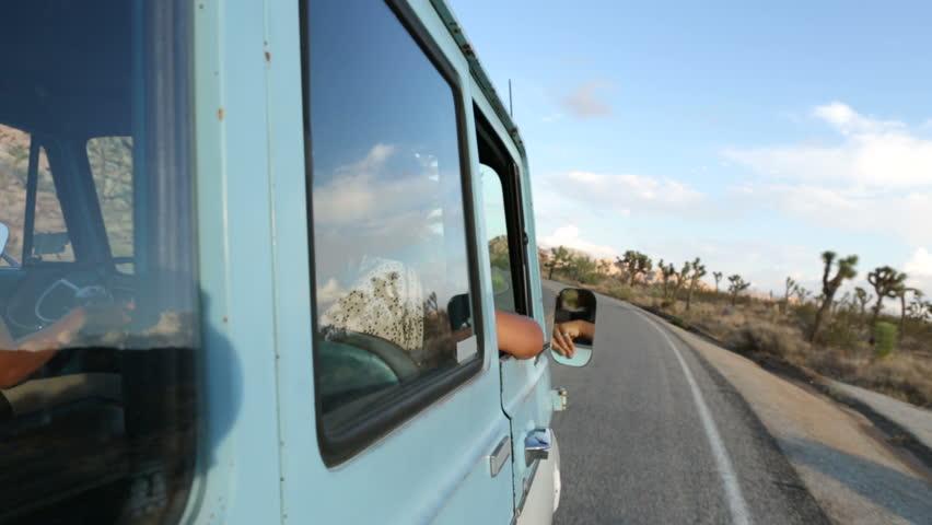 Friends traveling in van | Shutterstock HD Video #4793066