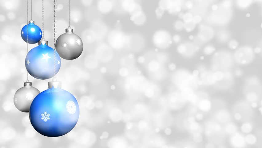 balls and other christmas decorations stock footage video