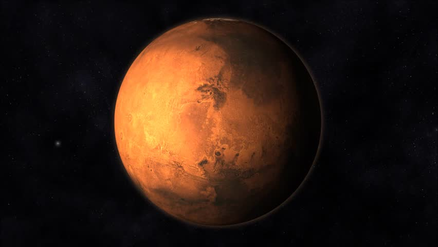 3D Animation Of Spaceship Approaching Planet Mars And ...