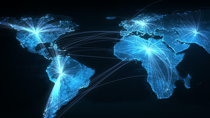 Global network stock footage video 4858514 shutterstock - Digital world hd ...