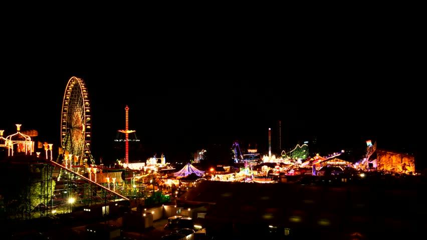 funfair - time lapse Funfair in Dsseldorf, Germany - HD stock footage clip