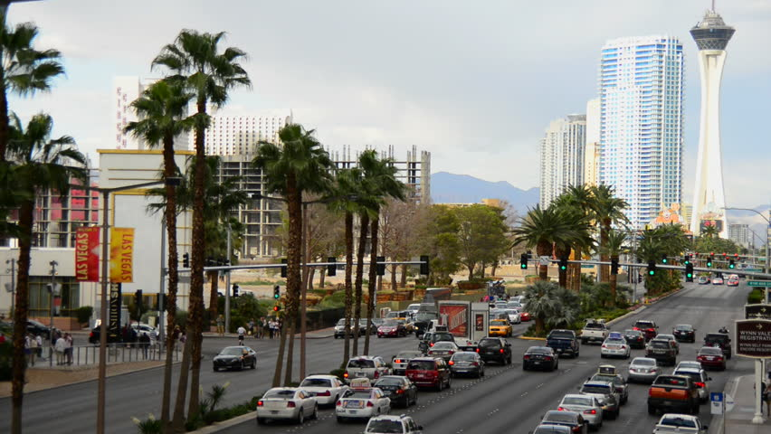 Time Lapse of the Las Vegas Strip Day commuter traffic | Shutterstock HD Video #4863230