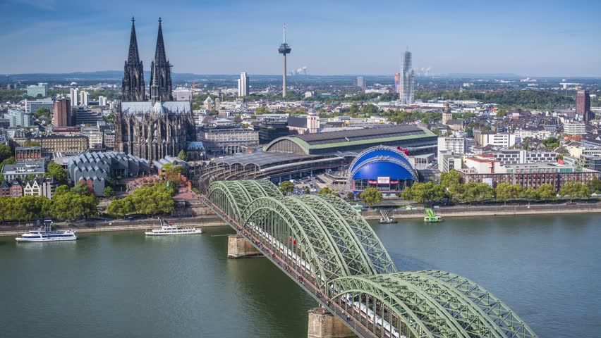 cologne germany time lapse stock footage video 4885640 shutterstock. Black Bedroom Furniture Sets. Home Design Ideas