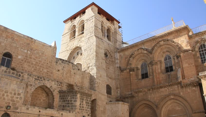 Church of the Holy Sepulchre in Jerusalem, Israel - HD stock video clip