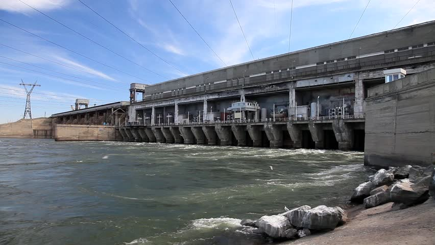 Dam power plant. - HD stock video clip
