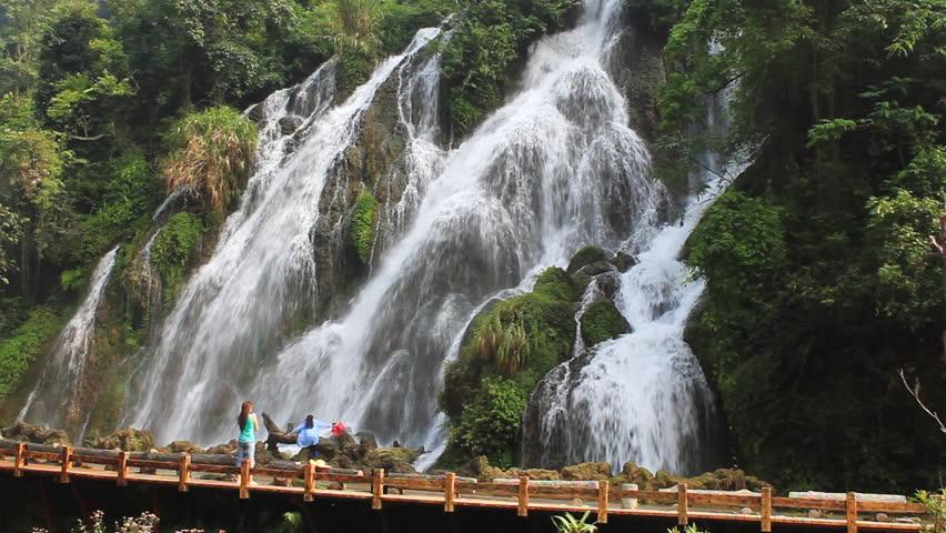 waterfall, Guizhou Province, China. - HD stock video clip