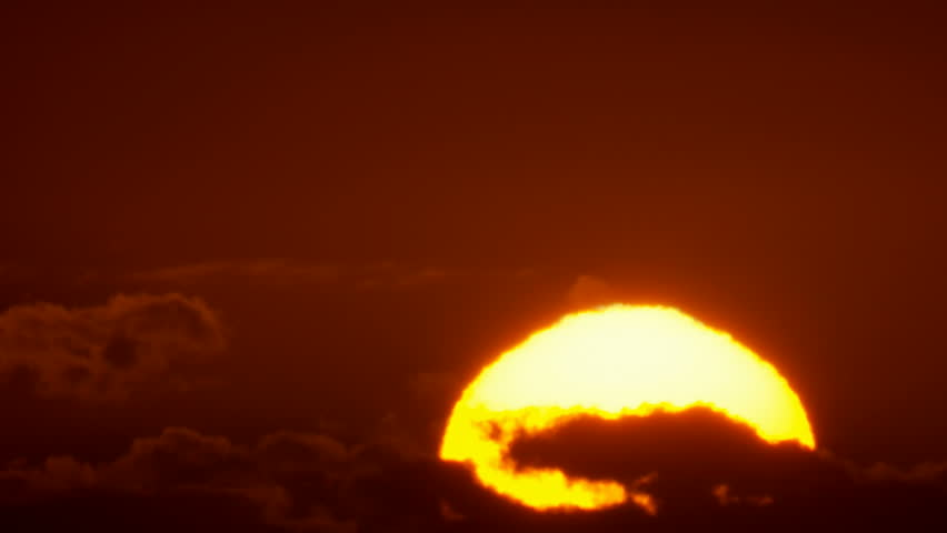 Big Sunrise Close-up, Sun Rising at Dawn Time Lapse - HD stock footage clip