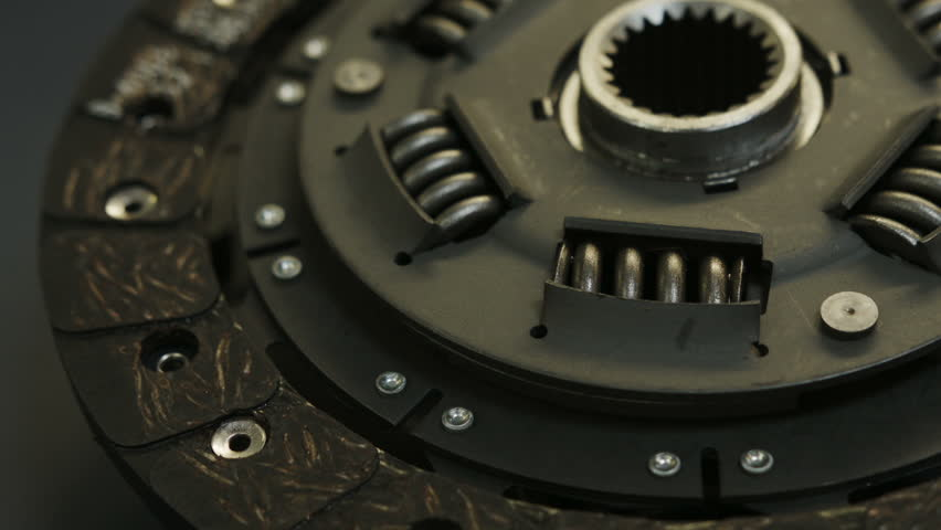 Automotive Clutch Plate : Automotive clutch plate and cover close up dolly sliding