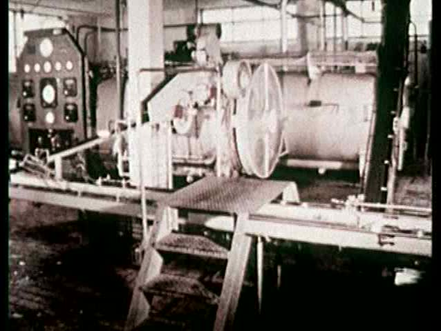 1960s - Production shots of dairy bottling facilities at Beatrice's Belgian plant. Bottled drinks & canned goods are shown.