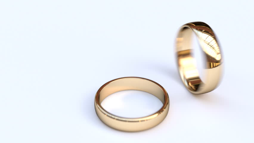 Wedding rings - HD stock video clip