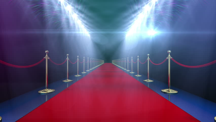 Loopable Red Carpet Event v1. Red carpet. High quality animation. Includes version with lights and clean render.  Last 300 frame version with lights is looped. Clean render is looped.
