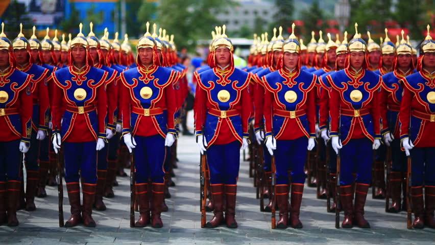 Mongolian Army Parade ULAANBAATAR, MO...