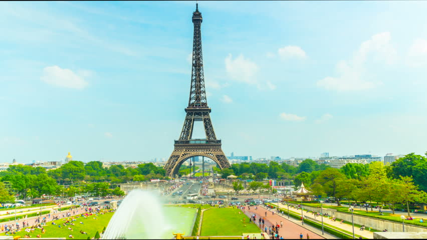 The Eiffel Tower in Paris, time-lapse