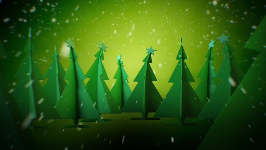 Loopable Christmas Background, Green Tint