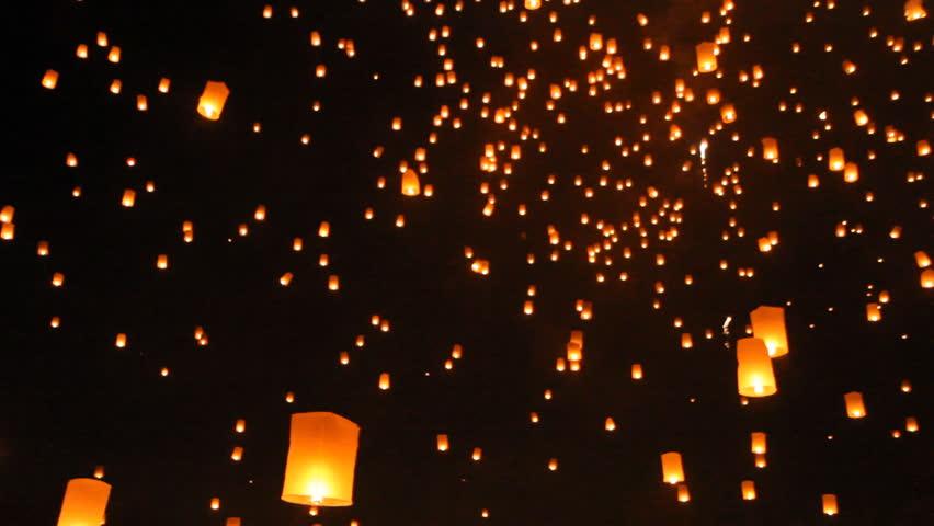 Lantern festival,Chiangmai Thailand.  | Shutterstock HD Video #5093108