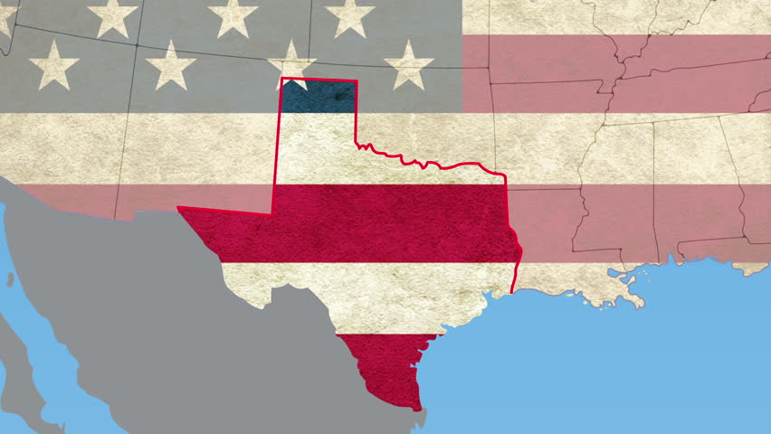 Texas Animation Map Political Divisions Of The United States Stock - Us map texas vector