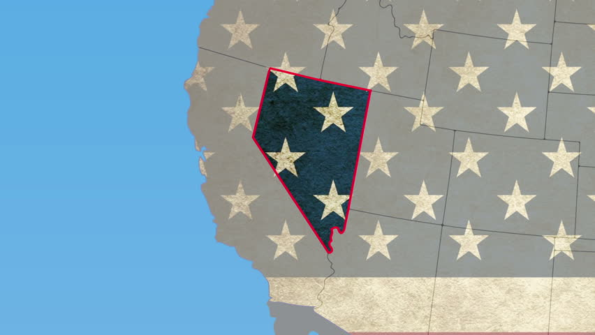 USA Map Nevada Pull Out No Signs Or Letters So You Can Insert - Usa map no states