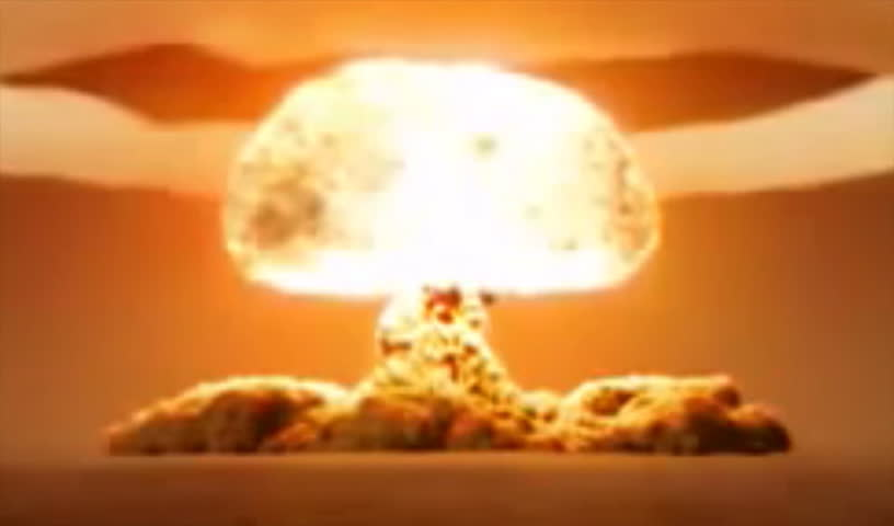 nuclear explosion - HD stock video clip