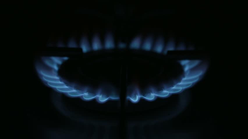 Gas Hob Flame A high quality capture of a gas hob flame, filmed on the Black Magic Cinema Camera. - HD stock video clip