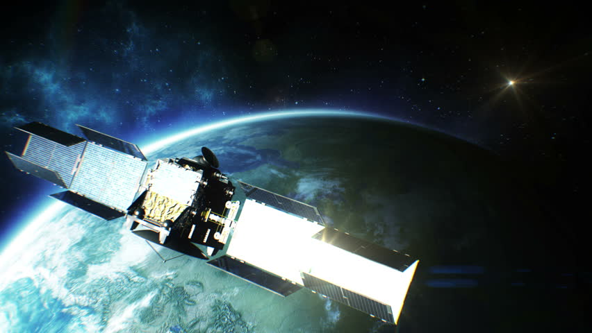 Beautiful view of Satellite Orbiting the Earth. HD 1080. | Shutterstock HD Video #5144030