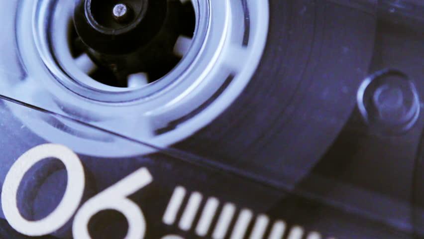 An old audio cassette tape. | Shutterstock HD Video #5174837