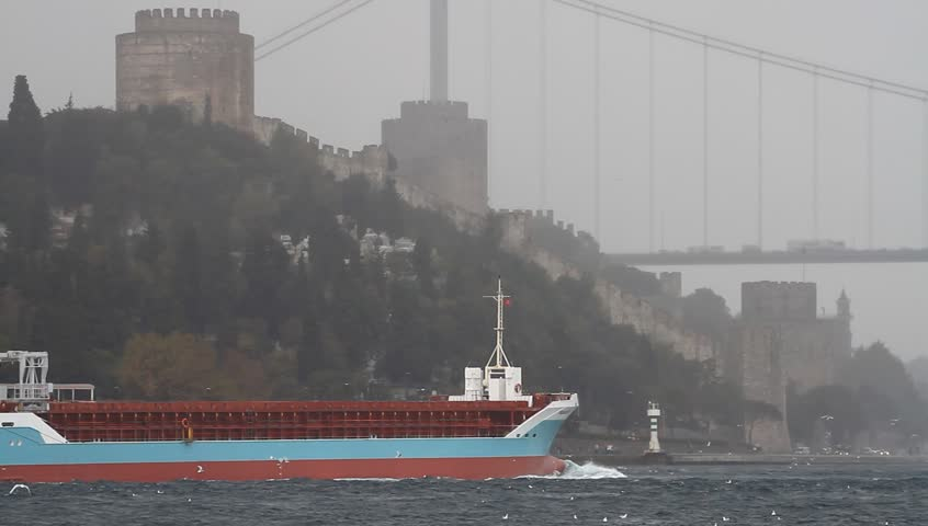 ISTANBUL - OCT 20: General cargo ship MODULUS 5 (IMO: 9256171, Russia) in
