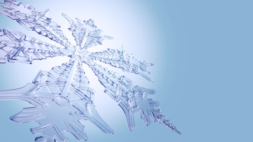Big Christmas Snowflake On Clean Blue Background. - HD stock video clip