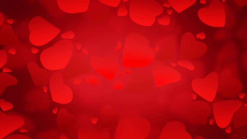 Blinking Hearts .Shining Heart Shapes Love Background