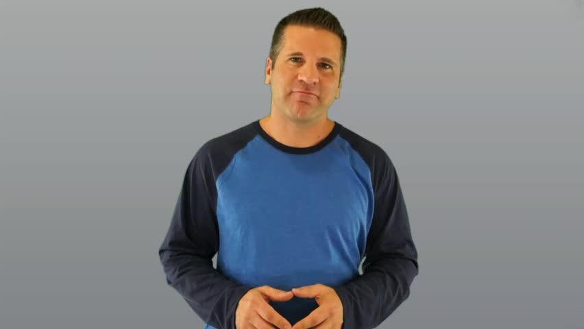 Actor Giving Generic Weight Loss Supplement Testimonial on a Gray Background