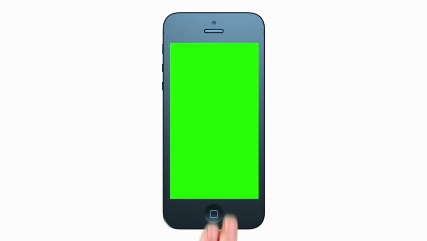 3D Phone Presentation. Tablet computer. Touch screen. Green Screen. #5246720