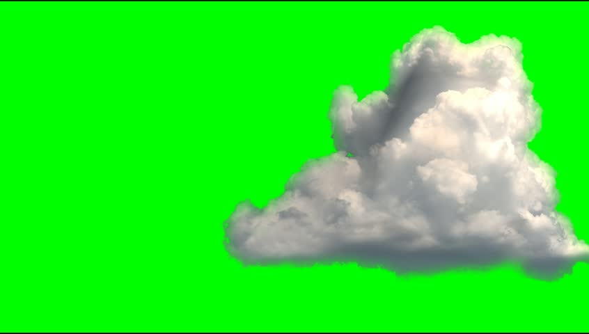 Chimney Flow Smoke Timelapse Over Green Screen Stock