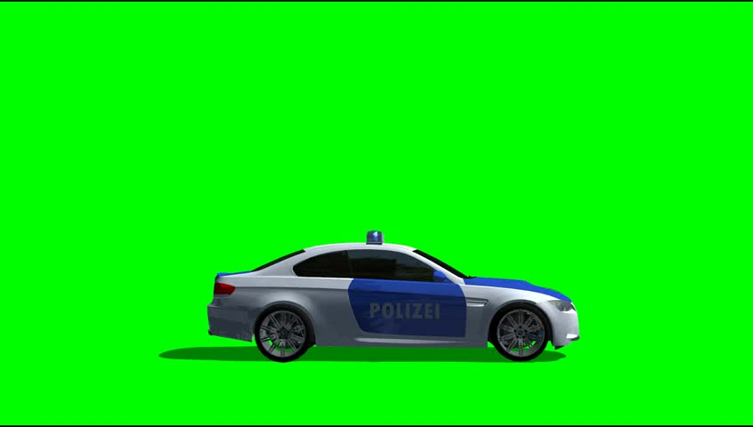 Red Sports Racing Car Drive Animation Clip Green Screen