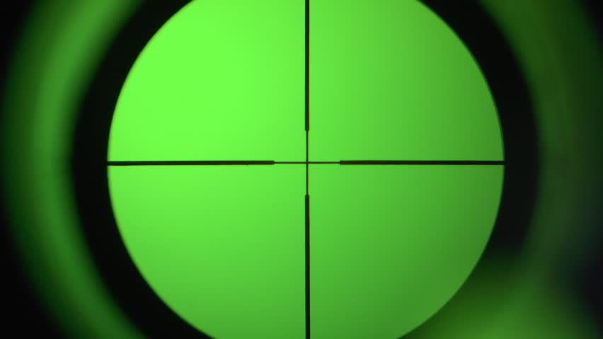 sight being focused against the chromakey - HD stock video clip