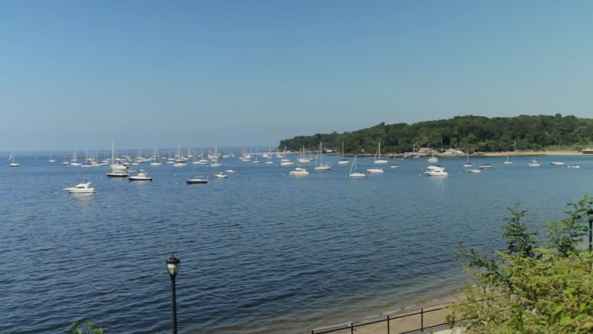 Collection of boats at rest (2 of 3) - HD stock footage clip